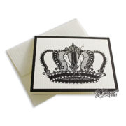 Crown Note Card With Envelope