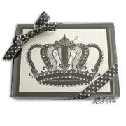 Crown Note Cards Box Front