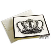 Jeweled Crown Note Card With Envelope