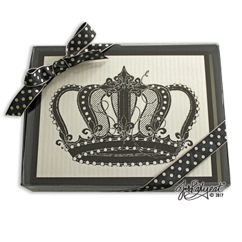 JBalyeat Vintage Crown Note Cards