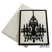 Single Chandelier Note Card With Envelope