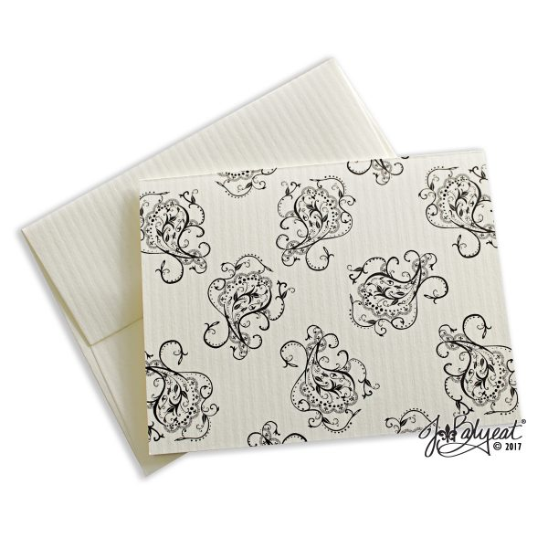 Single Paisley Note Card With Envelope