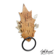 Fall Bark Leaf Napkin Rings Back