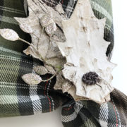 Fall Bark Leaf Napkin Rings Detail
