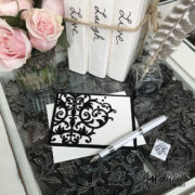 Damask Note Card With Pen