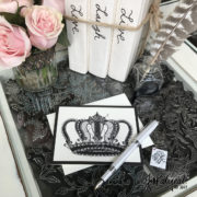 Jeweled Crown Note Card With Pen
