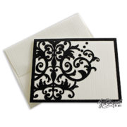 Single Damask Note Card With Envelope