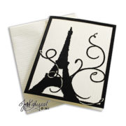 Single Paris Note Card With Envelope