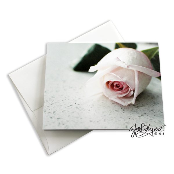 Single Rose Note Card with Envelope