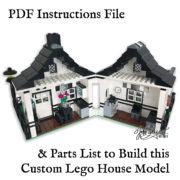 Printable Lego House Instructions Model Back