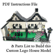 Printable Lego House Instructions Model Front