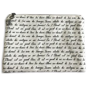 Zipper Pocket French Script