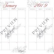 2019 Printable Calendar Jan Preview