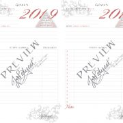 2019 Printable Calendar Planner Goals Preview